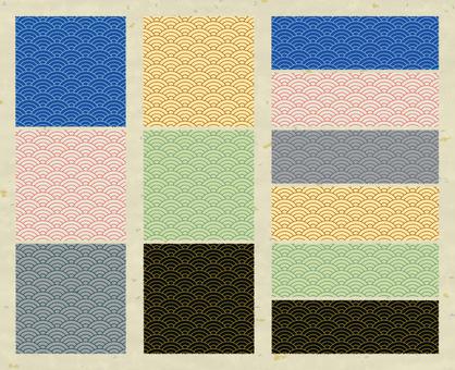 Japanese pattern series / Qinghai wave