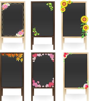 Wooden menu board · Season Icon Set 2