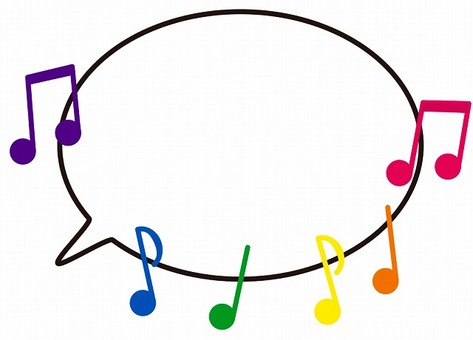 Musical note balloon (colorful) 4
