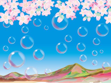 Soap bubble (4) Haruyama and cherry blossoms