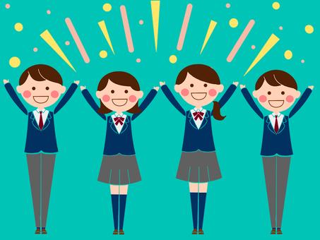 4 students who are banzai