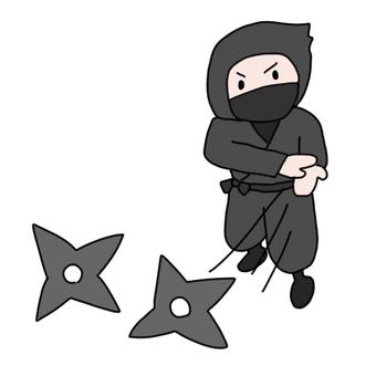 Ninja and shuriken