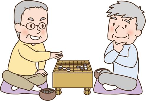 Grandpa playing go
