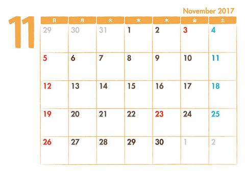 Calendar 2017.11
