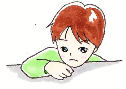 A quiet boy