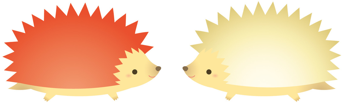 Soft red and white hedgehog
