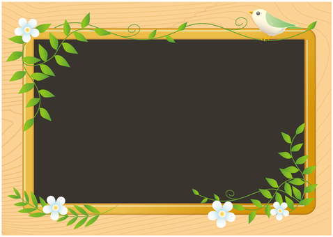 Leaves and birds' blackboard
