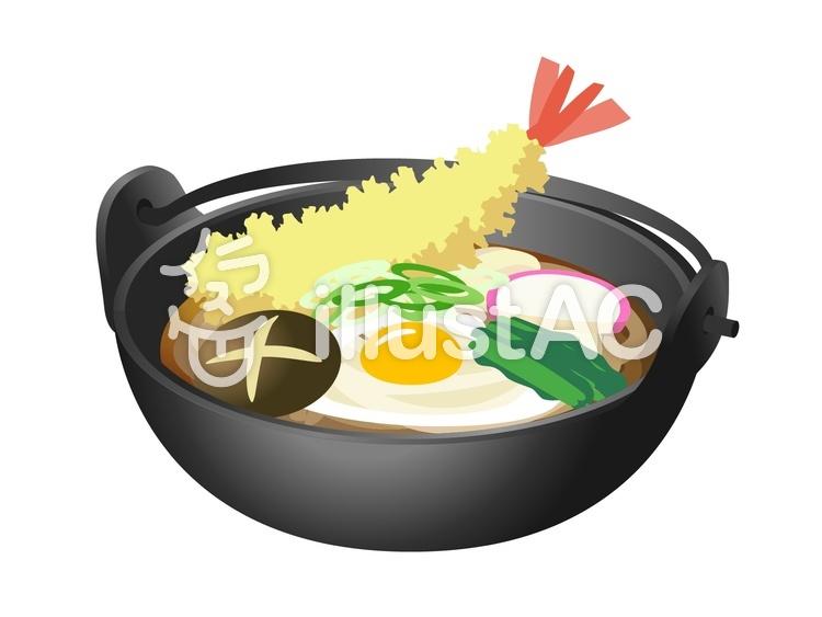 鍋焼きうどん-004のイラスト
