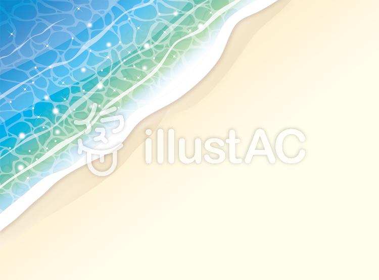 浜辺に打ち寄せる波の背景