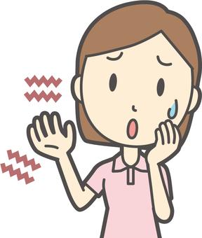 Short sleeve polo shirt female-052 - bust