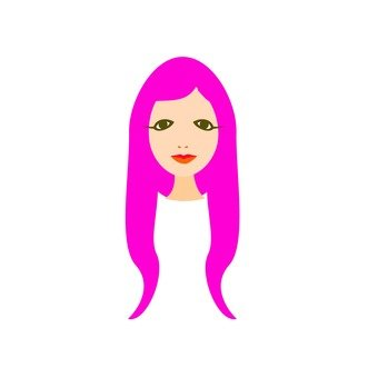 Pink hair lady