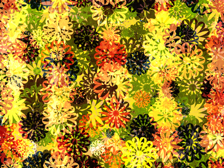 Flower motif background
