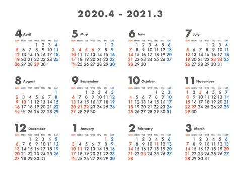 Calendar beginning in April 2020_Yoko