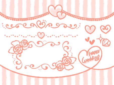 Wedding set 1 pink