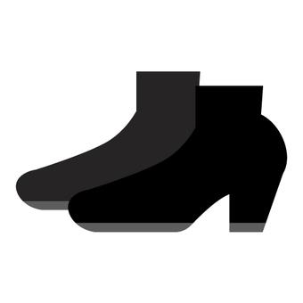 Black short boots