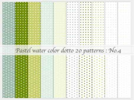 Watercolor style simple pattern (dot_04)