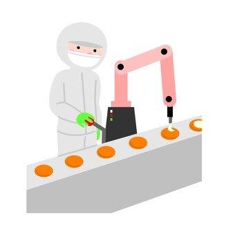 공장에서 일하는 노동자