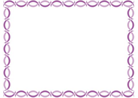 Frame-half moon reversal-purple
