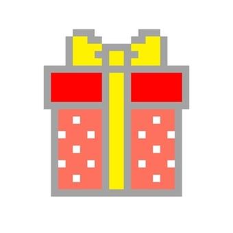 Present box square red