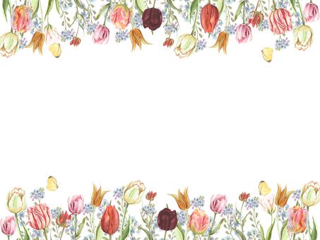 花枠371-やっぱり春はチューリップ花枠