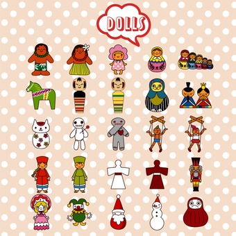 Doll illustration pack