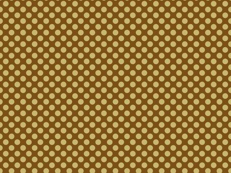 Polka dot pattern brown type