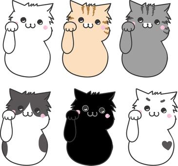Six cats series beckon cat