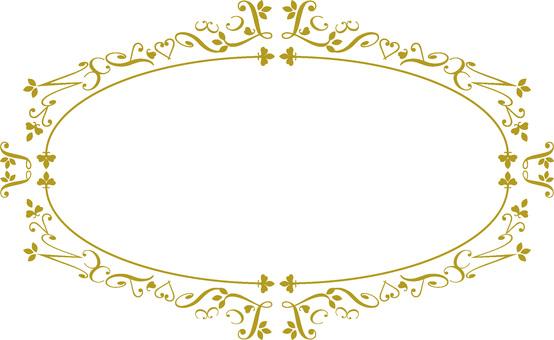 Elegant Frame Oval Brown
