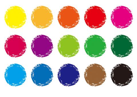 Crayon style material _ circle cs