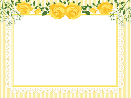 Rose wreath ornament card yellow 12