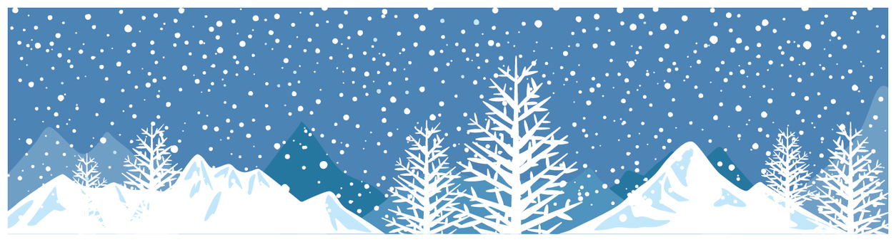 산의 겨울