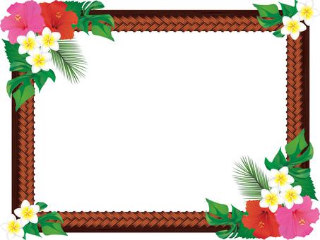 Tropical image frame