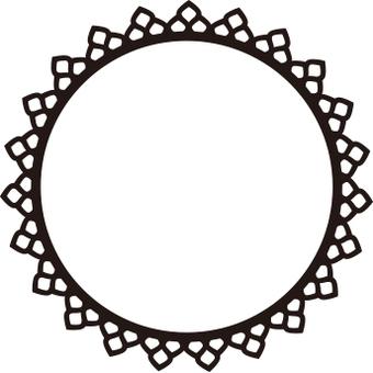 Decoration frame circle
