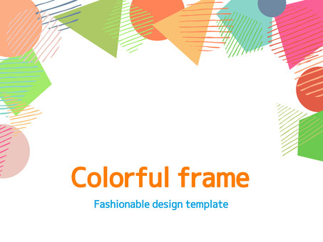 Colorful simple frame <02>