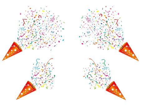 Party cracker Confetti snow ribbon celebration picture
