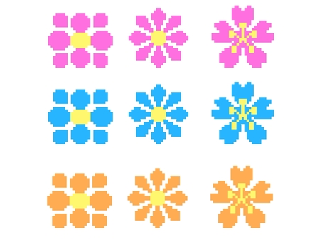 Dot picture flower