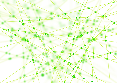 Green network white abstract background material