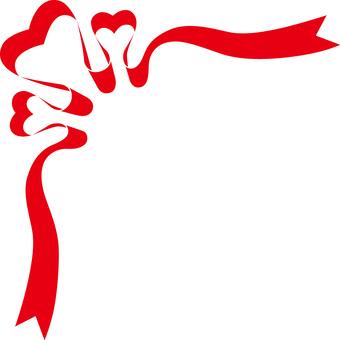 Heart ribbon frame 3