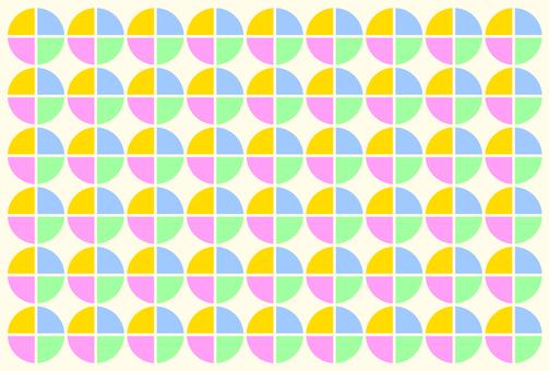 Retro fabric pattern colorful