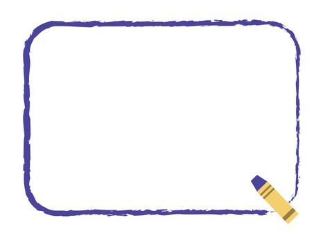 Crayon frame blue