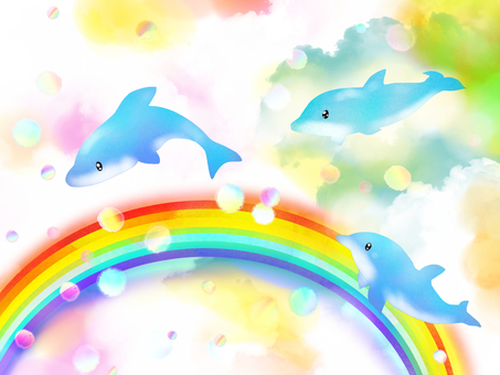 Rainbow and dolphin 3