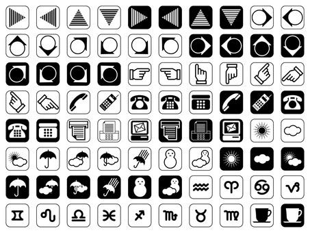Icon Various No 1 (black and white)