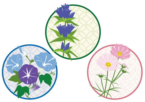 Japanese style flower 3