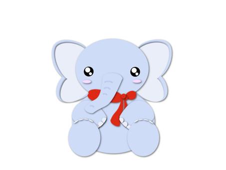 Elephant red muffler