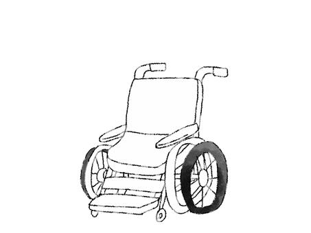 Wheelchair B & W