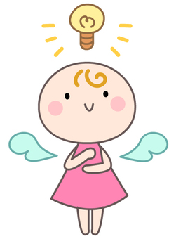 Lightbulb, angel who can think of it