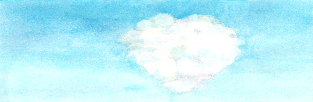 【Handwritten】 Heart cloud