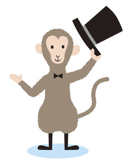 Silk hat and monkey