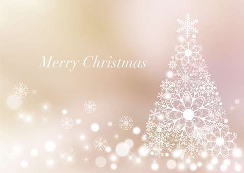 Christmas tree _ pale background 1490