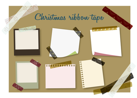 Wind memorandum with Christmas masking tape
